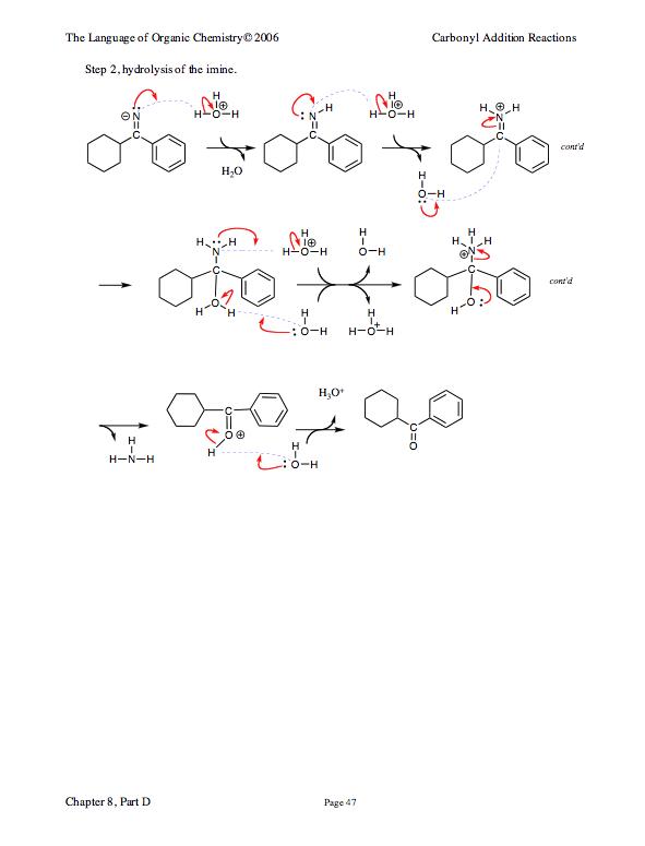Hydrolysis Of Imine