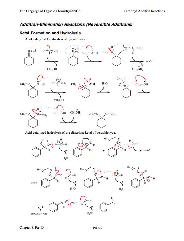 Ketal Formation Amp Hydrolysis